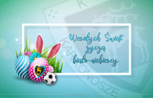 Happy Easter Illustration with Colorful Painted Egg and Rabbit Ears on Light Blue Background. Holiday Celebration Vector Design with Flower for Greeting Card, Party Invitation or Promo Banner